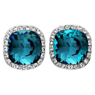 Isla Simone - Rhodium Plated Earring with Assorted Color Austrian Crystal & White Crystal