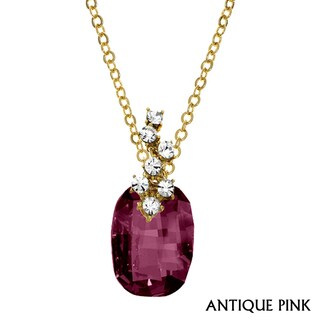 Isla Simone - Gold Plated Necklace with Austrian Crystal & White Crystal