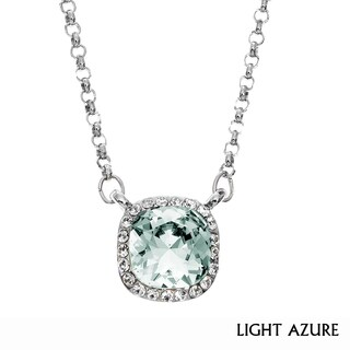 Isla Simone - Rhodium Plated Necklace with Austrian Crystal & White Crystal