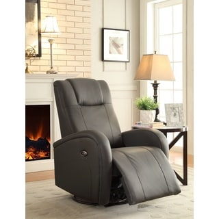Easy Living Swiss Swivel Power Glider Recliner with USB