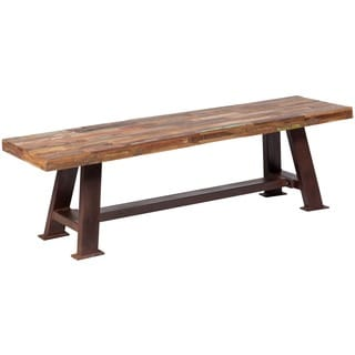 Wanderloot Brooklyn Reclaimed Wood Dining Bench (India)