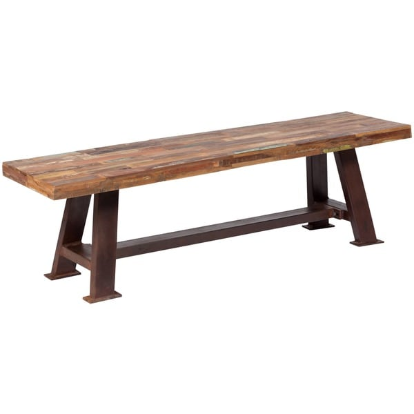 Handmade Wanderloot Brooklyn Reclaimed Wood Dining Bench (India)
