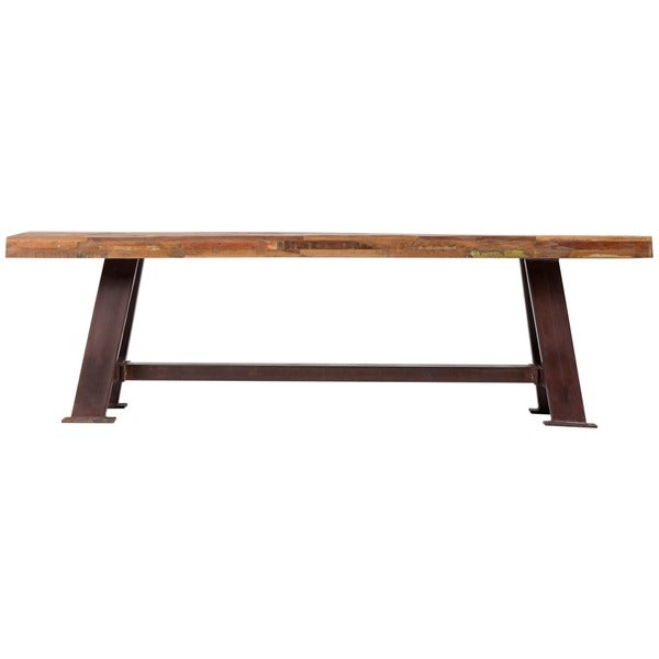 Handmade Wanderloot Brooklyn Reclaimed Wood Dining Bench (India) - Free  Shipping Today - Overstock.com - 18301918 - Handmade Wanderloot Brooklyn Reclaimed Wood Dining Bench (India