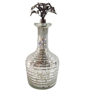Antique Silver 11-inch Perfume Bottle