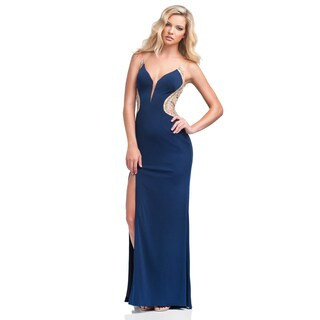 Terani Couture Women's Jersey Column Prom Gown