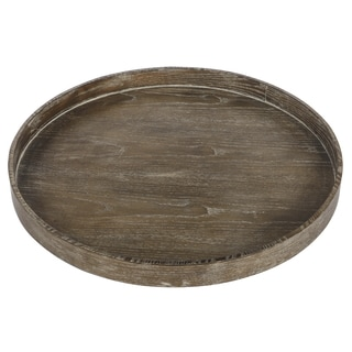 Brown Round Serving Tray
