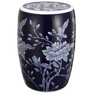Ceramic Floral Garden Stool