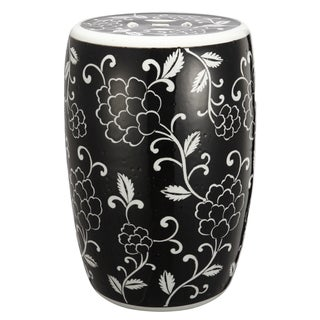 Black Ceramic Garden Stool