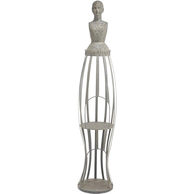 Metal and Wood Mannequin (Mannequin), Beige