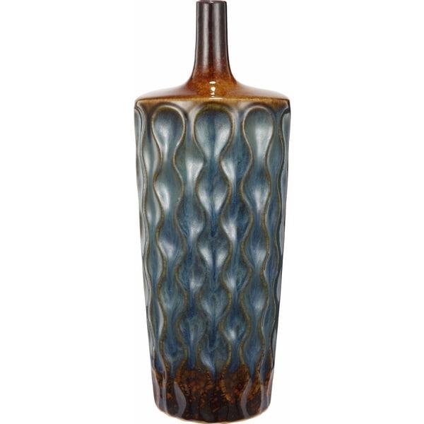 Blue/ Brown Textured Ceramic Vase