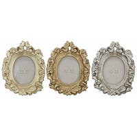 Multicolored Oval Photo Frames (Set of 3)