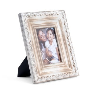 Bombay Distressed Beige Wood Frame (4 x 6)