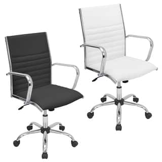 White Office Conference Room Chairs For Less Overstockcom - White leather office chairs