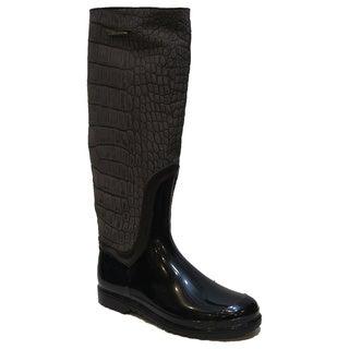 Dolce & Gabbana Women's Brown Suede Narrow Rain Boots