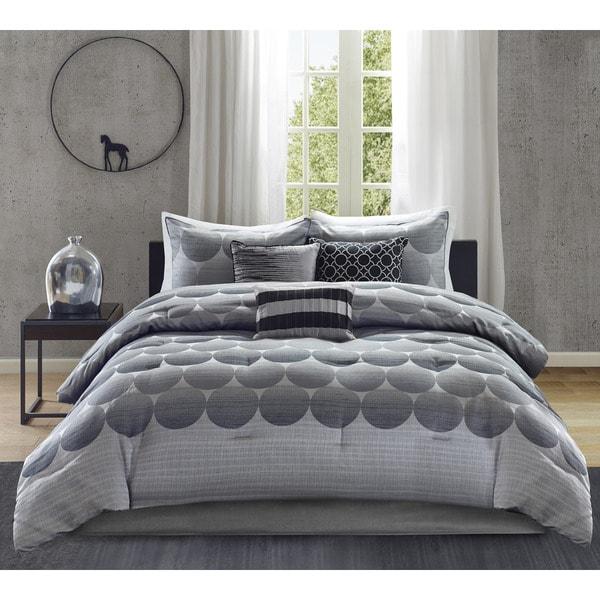 Madison Park Arden Grey 7-piece Comforter Set