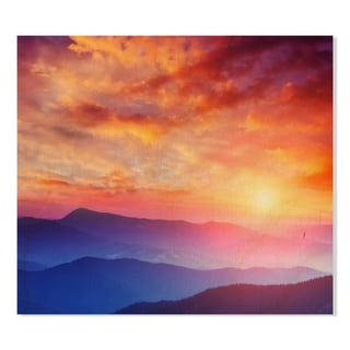 Gallery Direct Mountain Landscape Print on Birchwood Wall Art
