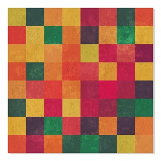 Gallery Direct Colorful Square Vector Print on Birchwood Wall Art