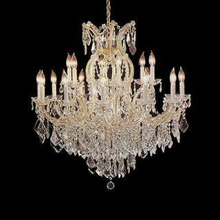 Buy 16 lights chandeliers online at overstock our best gallery lighting maria theresa crystal chandelier pendant lighting fixture aloadofball Images