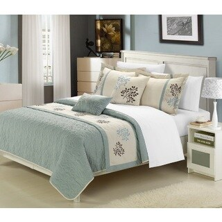 Chic Home Kurt 6-Piece Embroidered Coverlet Set