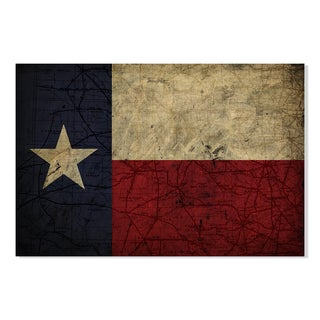 Gallery Direct New Era Original Texan Print on Birchwood Wall Art