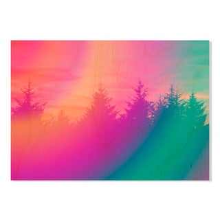 Gallery Direct Psychedelic Forest Print on Birchwood Wall Art