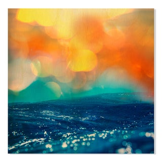 Gallery Direct Wave Print on Birchwood Wall Art