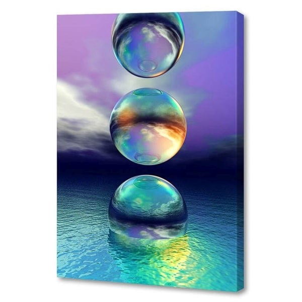 Menaul Fine Art 'Three Spheres Aqua' by Scott J. Menaul