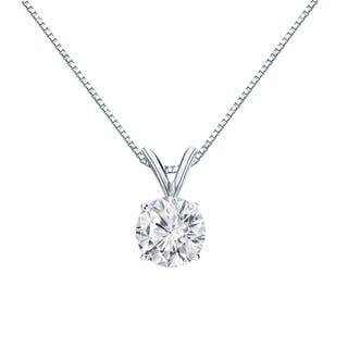 Auriya 14k Gold 3/4ct TDW Round-Cut Diamond Solitaire Necklace|https://ak1.ostkcdn.com/images/products/11326010/P18302441.jpg?impolicy=medium