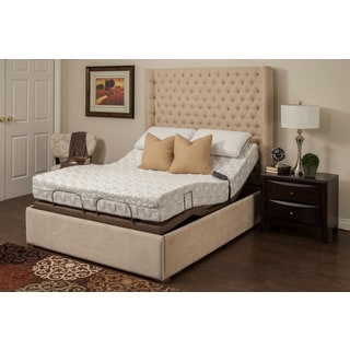 Blissful Nights Blossom 9-inch Queen-size Memory Foam Mattress with Adjustable Base