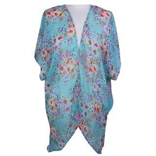 LA 77 Women's Floral Open-Front Kimono/ Wrap