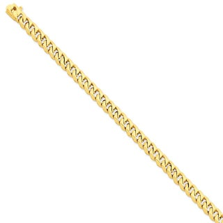 Versil 14k Yellow Gold 7mm Hand-polished Traditional Link Chain