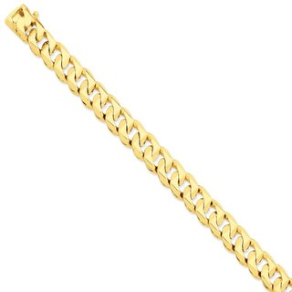 Versil 14 karat Yellow Gold 11mm Hand-polished Traditional Link Chain