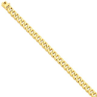 Versil 14 Karat Yellow Gold 8.3mm Hand-polished Traditional Link Chain