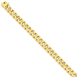 Versil 14k Yellow Gold 9.2mm Hand-polished Traditional Link Chain