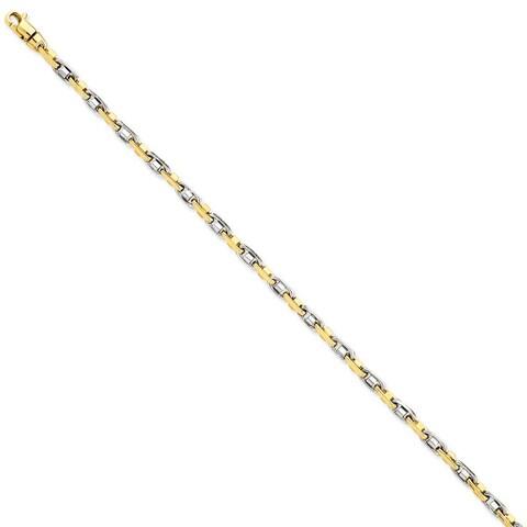 Versil 14 Karat Yellow Gold Two-tone 3.5mm Fancy Link Chain