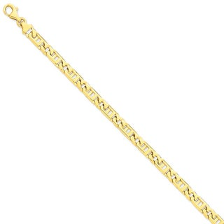 Versil 14k Yellow Gold 6mm Fancy Link Chain