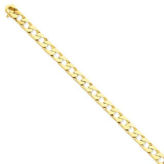 Versil 14k Yellow Gold 8mm Hand-polished Fancy Link Chain