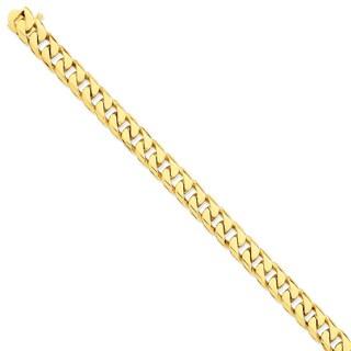 Versil 14 Karat Y/G 9.8mm Hand-polished Flat Beveled Curb Chain