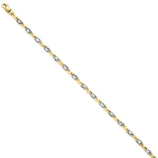 Versil 14k Two-tone Gold 3.5mm Fancy Link Chain