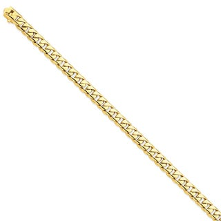 Versil 14 Karat Yellow Gold 7.25mm Hand-polished Rounded Curb Chain