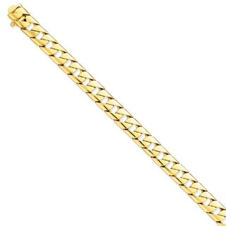 Versil 14k Yellow Gold 10mm Hand-polished Fancy Link Chain