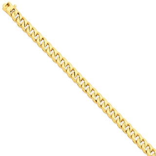 Versil 14k Yellow Gold 8mm Hand-polished Figaro Link Chain