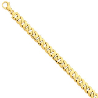 Versil 14k Yellow Gold 10.75mm Polished Fancy Link Bracelet