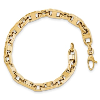 Versil 14k Yellow Gold Fancy Link Bracelet