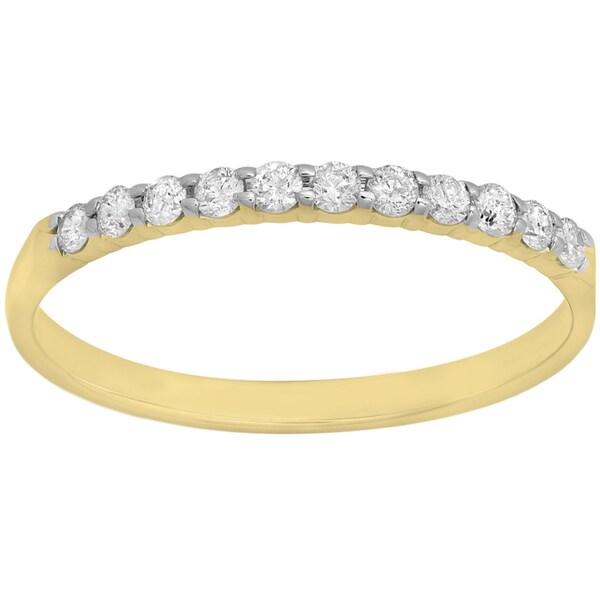 Elora 14k Gold 1/5ct TDW Diamond Wedding Ring Stackable Band