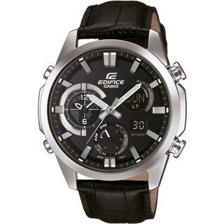 Casio G-Shock Men's ERA500L-1A Edifice Analog-Digital Dial Black Leather Watch