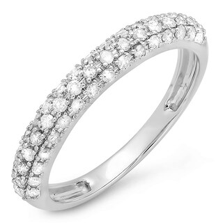 Elora 14k Gold 2/5ct TDW Round White Diamond Anniversary Wedding Band (H-I, I1-I2)