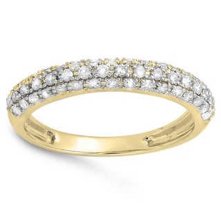 Elora 14k Gold 2/5ct TDW Round White Diamond Anniversary Wedding Band (H-I, I1-I2)