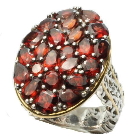 Gems en Vogue Garnet Cluster Ring