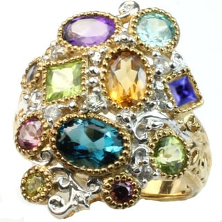 Michael Valitutti Multi Gemstone Ring